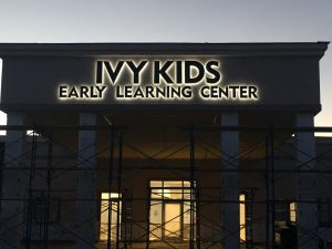 custom backlit dimensional letters